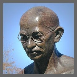 Who was Mahatma Gandhi and what did he do for India?
