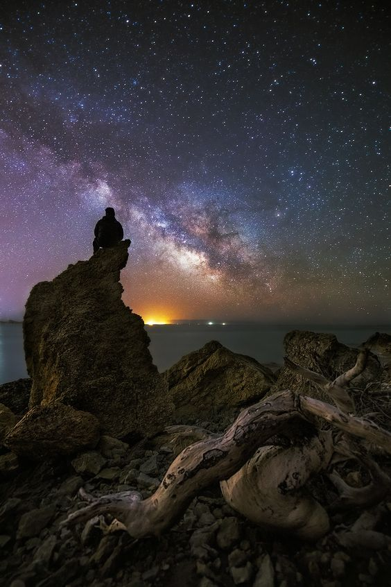 Infinity by Jose Antonio Hervas on 500px... #astrophotography #ibiza #ibizalights #infinity #lights #milky way #night photography #rocks #seascape #stars