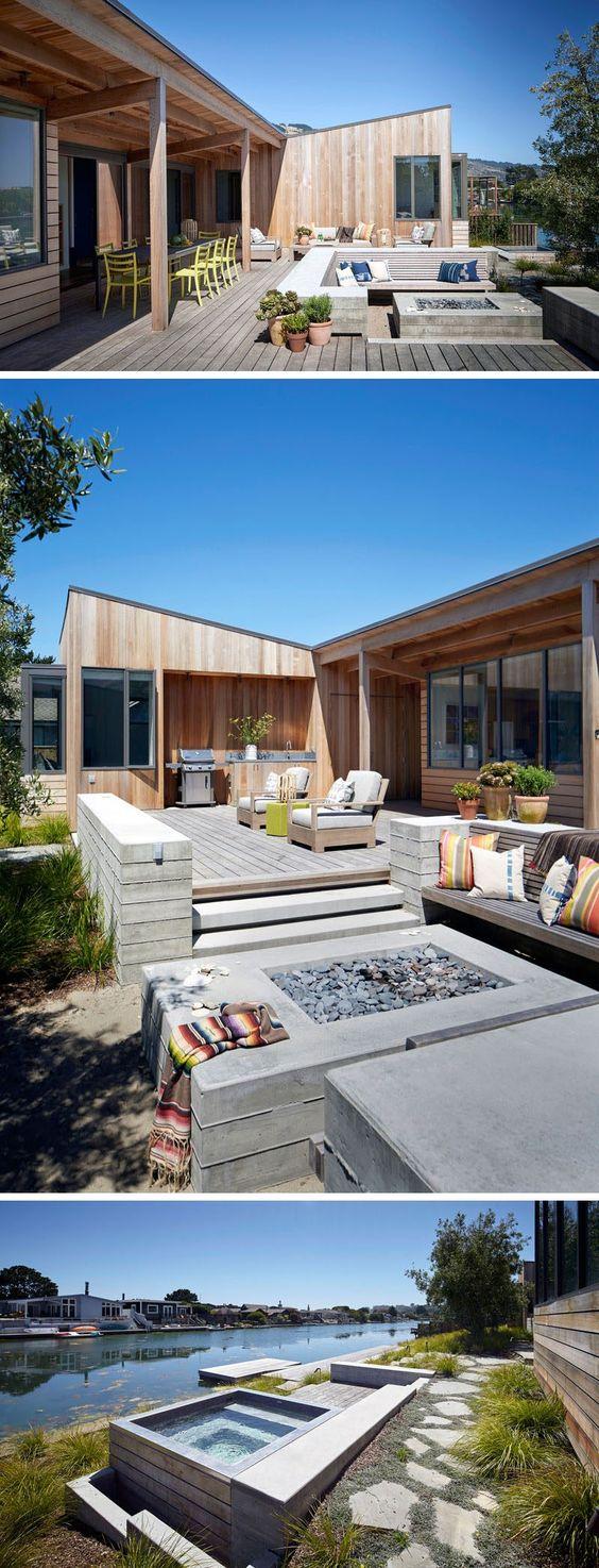 treibholz deko, naturstein und holz schaffen verbindung zwischen, Wohnzimmer dekoo
