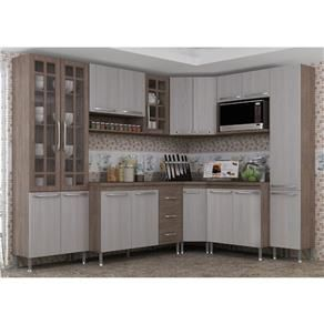 Cozinha Compacta 8 Peças Paneleiro Duplo Mery Indekes