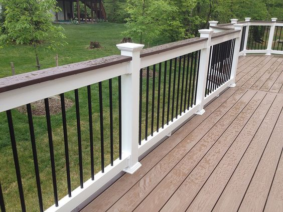 Best Decks With White Railing Images Shoreline Vinyl Railing 400 x 300