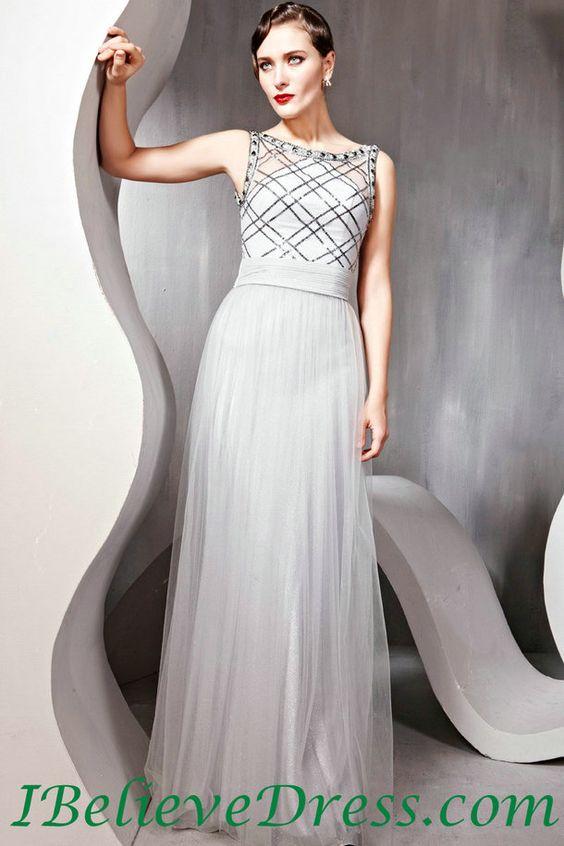 Tulle Women Modest Long Evening Dress Full Length Patterns For ...