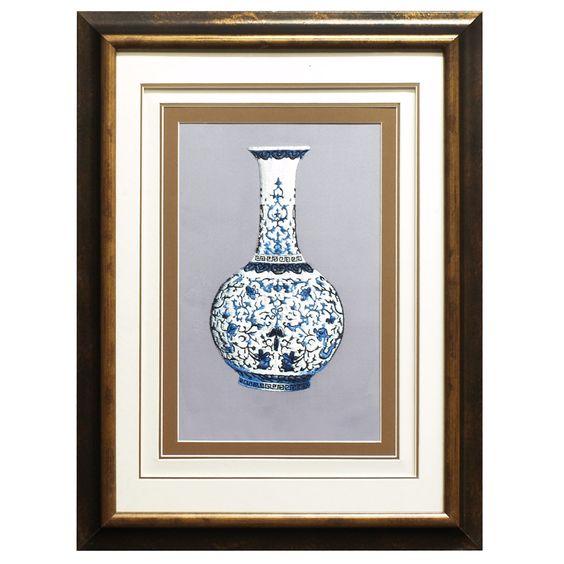 Ming Vase Silk Embroidery Frame