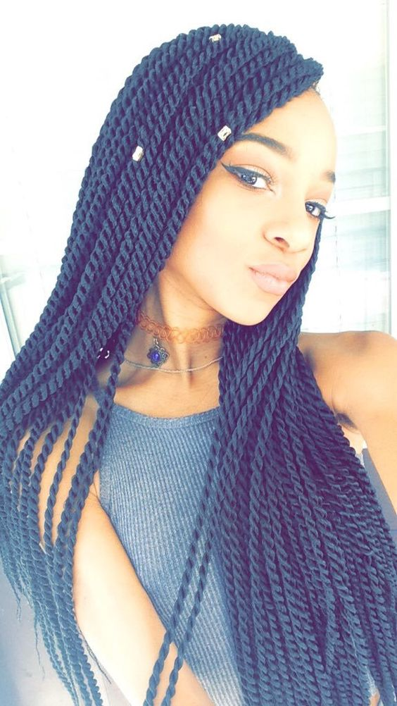 Incredible Senegalese Twists Twists And Hair On Pinterest Hairstyle Inspiration Daily Dogsangcom