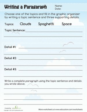 sample 3rd grade paragraph | Paragraph Writing | Worksheet ...