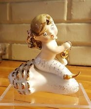 Vintage Lefton Mermaid Figurine 1955 Shell and Boot