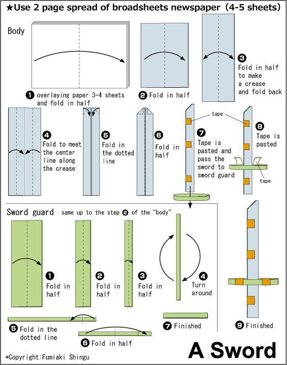 How To Origami Ninja Weapons