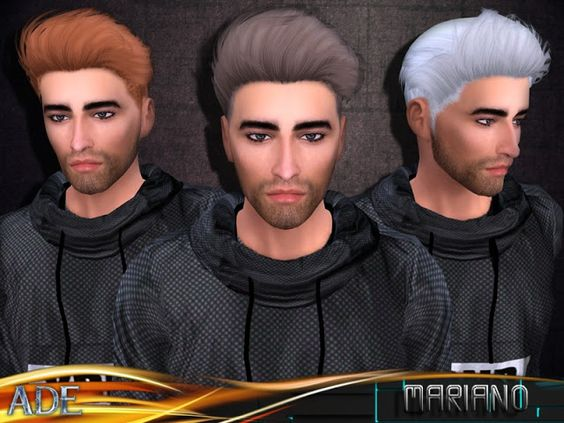Sims 4 CC's - The Best: Mariano Hair by Ade Darma