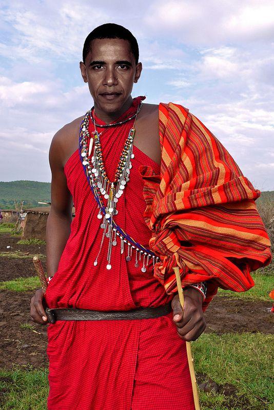 Barack Obama visiting his homeland Kenya