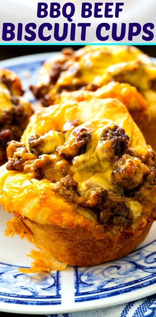 Bbq Ground Beef Biscuit Cups Spicy Southern Kitchen Recipe In 2020 Biscuit Cups Filling Recipes Sweet Bbq Sauce