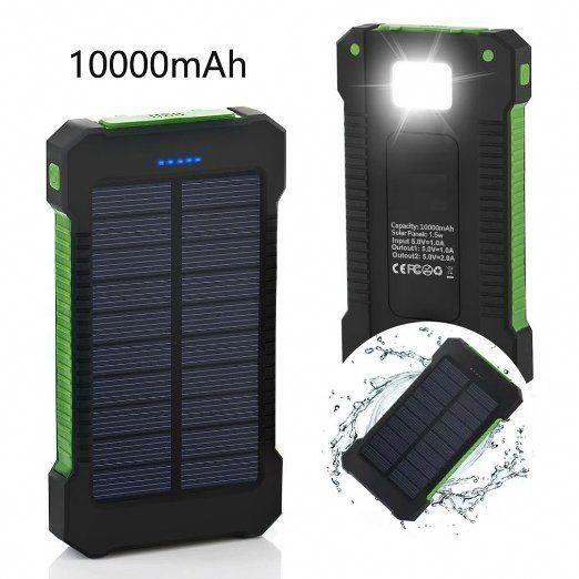 Solar Charger Vivostar 10000mah Solar Power Bank With Solar Panel Dual Usb Port Portable Energy Charger Solar Battery Solar Power Bank Solar Battery Charger