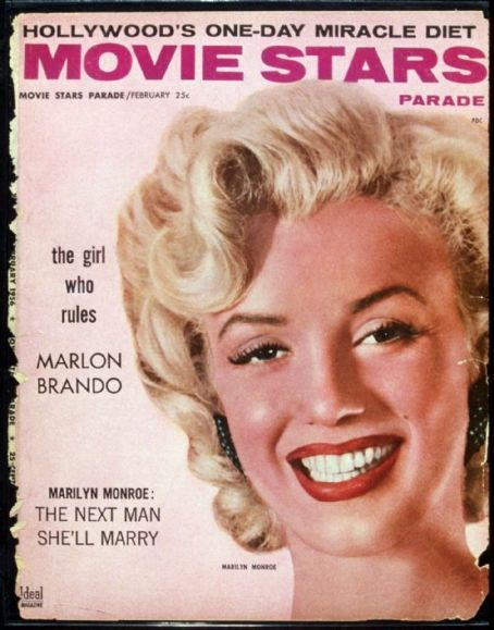 Movie Stars magazine 02-1956. Front cover photo of Marilyn Monroe.