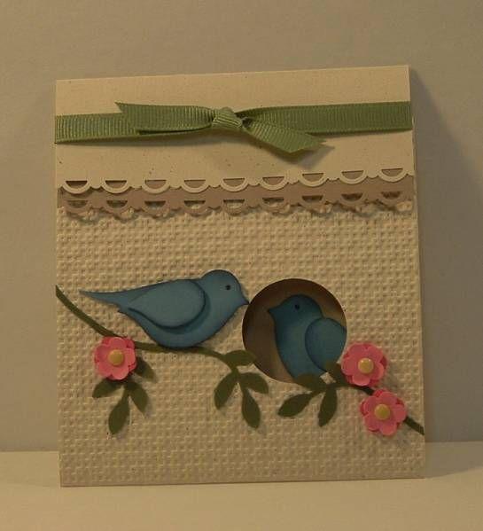 Love the birdie inside the card