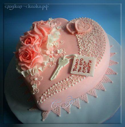 "Cake ""Keys to the Heart"" - by SPechenkina @ CakesDecor.com - cake decorating website"