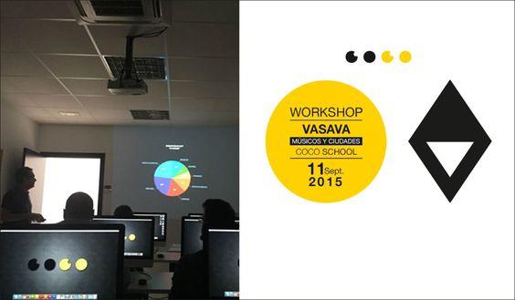 """Programa de WorkShops gratuitos, taller sobre """"Músicos y Ciudades"""", impartido por el estudio barcelonés de diseño y comunicación VASAVA."""