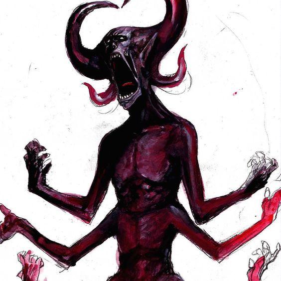 #instaart #daemon #art #creature #illustration #monster () by kakikakisuke