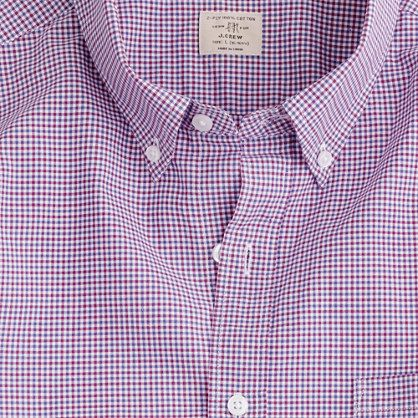 Secret Wash shirt in Cahill tattersall