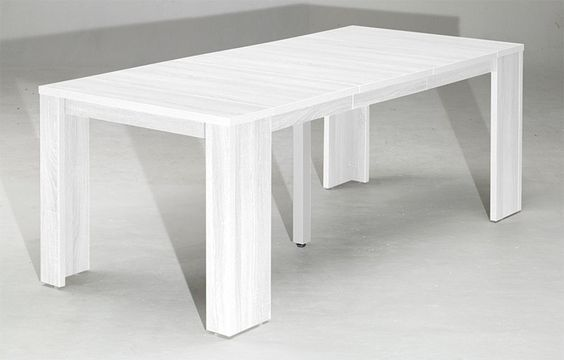 Table console extensible switch rallonges ch ne blanc salon pinterest t - Table console extensible chene ...