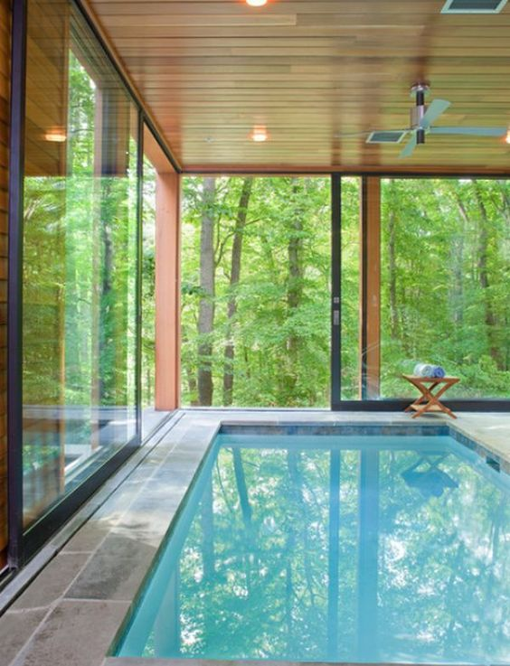 Beautiful, stunning indoor pools – refreshing reminders of the sunny days