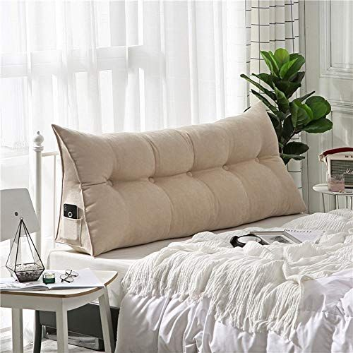 Buy Ms Pillow Bedside Cushion Mattress Triangle Double Rear Sofa Pillow Waist Multifunction 8 Colors 5 Sizes Multiple Color D Size 150 X 20 X 50 Cm O In