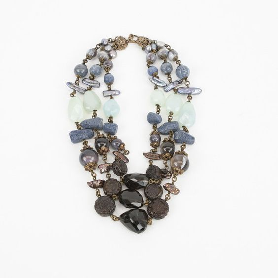 Pre-owned Stephen Dweck Blue Coral Necklace (€610) ❤ liked on Polyvore featuring jewelry, necklaces, blue, blue coral jewelry, stephen dweck, blue necklace, multi layer necklace and pre owned jewelry