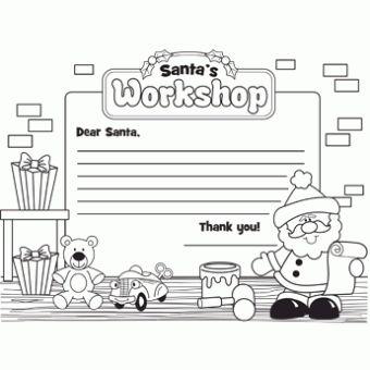 office santas workshop coloring pages - photo#12
