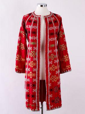 Filip   Inna Disini Embroidered Red Coat | Looks to Love