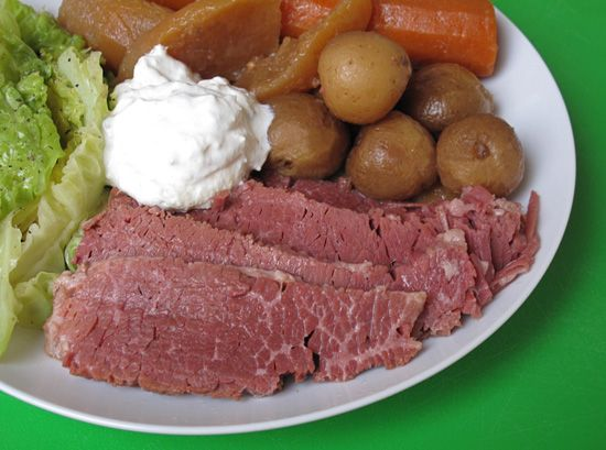 Corned Beef With Horseradish Cream     A heaping pile of tender corned beef deserves a dollop of outrageous horseradish cream sauce.