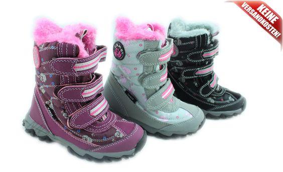 Kinder Winter-Stiefel mit Warmfutter *5001/02* Gr.25-36