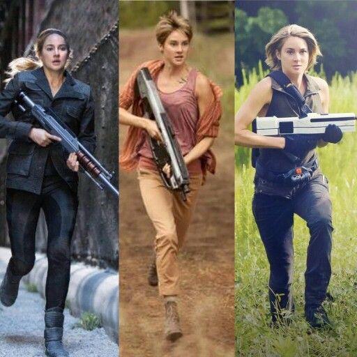 The evolution of Tris Prior #Divergent #Insurgent #Allegiant