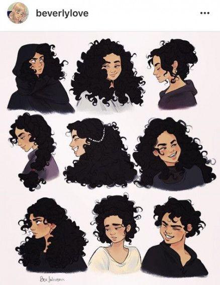 Black Curly Hair Cartoon Characters : black, curly, cartoon, characters, Drawing, Cartoon, Curly, Ideas, Hair,, Illustration,