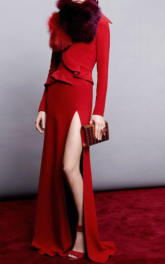 Stretch Cady Gown by Elie Saab for Preorder on Moda Operandi