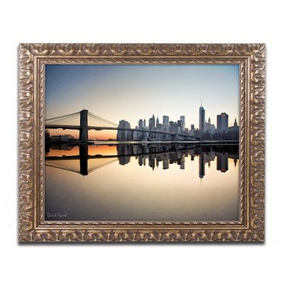 Trademark Art 'Downtown NY' by David Ayash Framed Photographic Print Size: 1