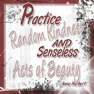 The Other Half of 'Random Acts of Kindness' - one of my favorite and more recent posts at the Cafe.