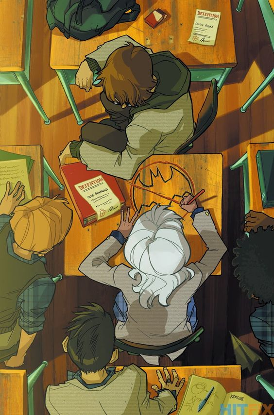 GOTHAM ACADEMY #3 Written by BECKY CLOONAN and BRENDEN FLETCHER Art and cover by KARL KERSCHL 1:25 Variant cover by BECKY CLOONAN On sale DECEMBER 3 • 32 pg, FC, $2.99 US • RATED T If you thought getting detention was a pain, just wait till you see detention Gotham Academy-style!