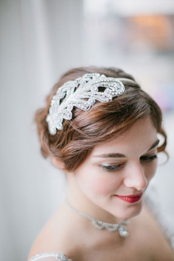Headband by Preston and Olivia. Photo Shoot Inspired by the new series Downton Abbey ~ Edwardian styling. Photography by Arielle Doneson, Event Design & Styling by Firefly Events.