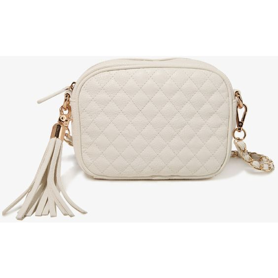 FOREVER 21 Quilted Faux Leather Crossbody ($20) via Polyvore