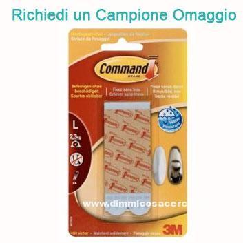 Campione omaggio strisce adesive Command da 3M - DimmiCosaCerchi.it