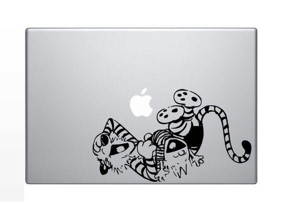 Calvin & Hobbes laptop decal