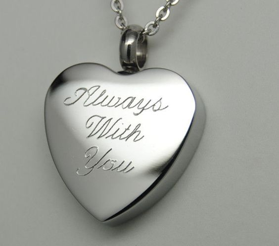Always with you cremation urn necklace heart cremation for Father daughter cremation jewelry