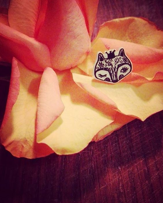 Kid ring - Baby fox princess https://www.etsy.com/listing/269232844/baby-fox-princess-handmade-original-cute #babygirl #handdrawing #flowerpower  #cutekidsclub #ringforkids #crowns #uniquegifts #yellow #childrens #jewelry #foxbaby #faces #newproduct