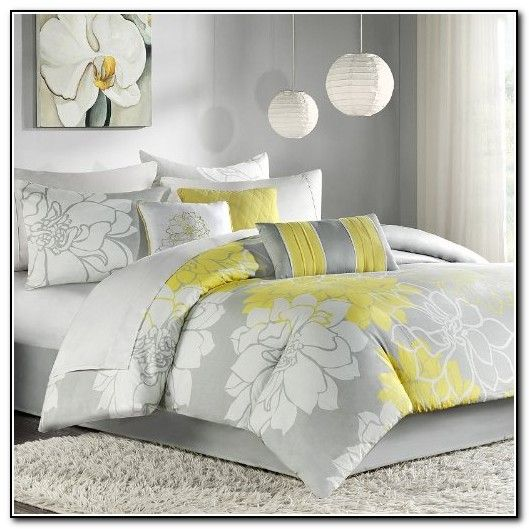 Gray and yellow bedding grey bedding sets queen master Gray and yellow bedroom