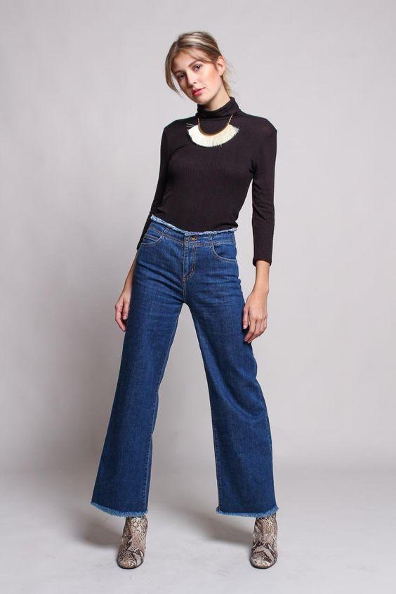 West Coast Crop Flare Jean