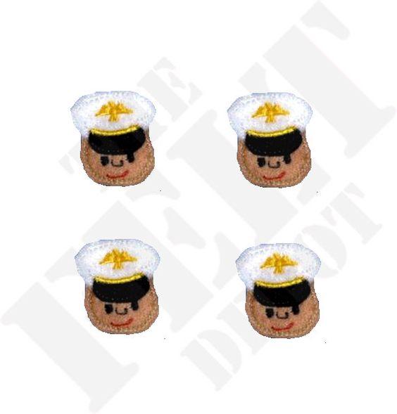 Marine Hero Felt Embellishments