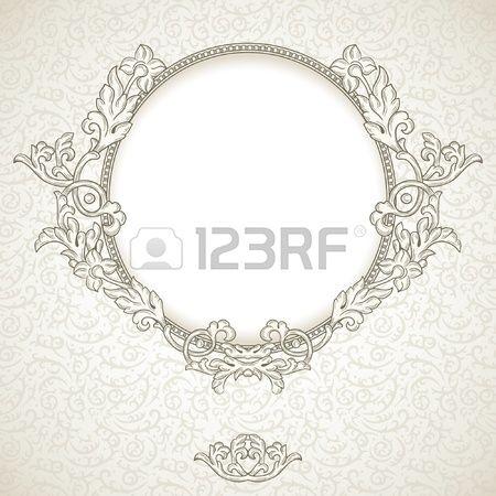 Fundo do vintage com frame redondo