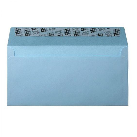Wedgewood Blue DL Envelopes - Wallet Peel and Seal 120GSM Pack Size : 25 Envelopes