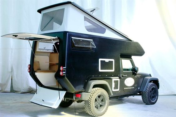 the jeep action camper - wow! looks like a modern version of my 1937 Ford Housecar (on this board)