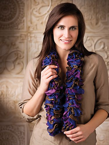 Ravelry: Autumn Ruffles Scarf pattern by Carrie Carpenter