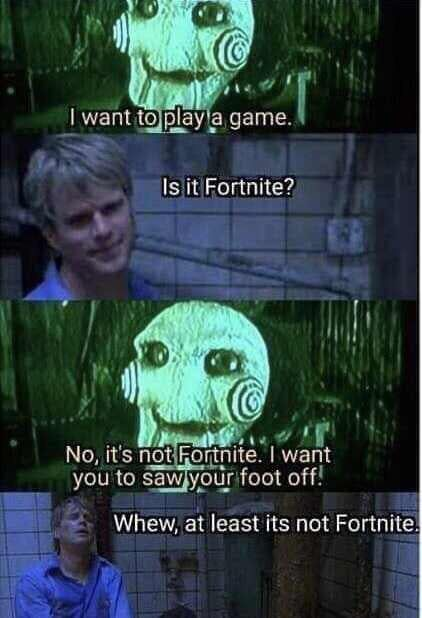 Thank God Its Not Fortnite Funny Text Pictures Funny Fails Funny Gaming Memes