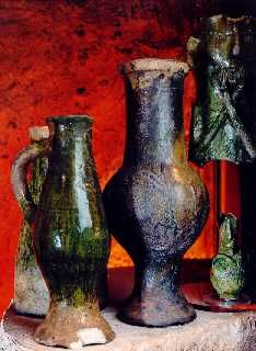 Medieval pottery in Kingston Museum, 1200-1300talet :), engelskt